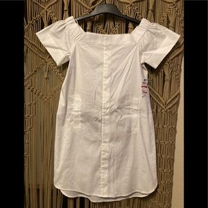 Bar III off shoulder blouse dress white XS
